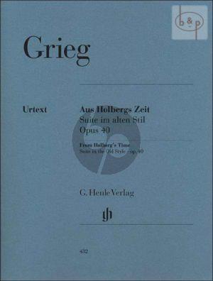 Grieg Aus Holbergs Zeit Op.40 (Suite im alten Stil) Klavier (edited by Ernst Herttrich and Einar Steen-Nokleberg) (Henle-Urtext)