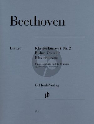 Beethoven Concerto No.2 Op.19 B-flat major (Piano-Orch.) (reduction for 2 Piano's) (edited by Hans Kahn) (Henle-Urtext)