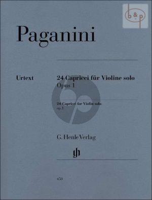 24 Capricen Op.1 Violine solo