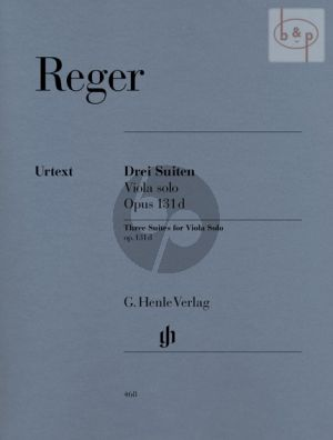 Reger 3 Suites Op.131d Viola solo