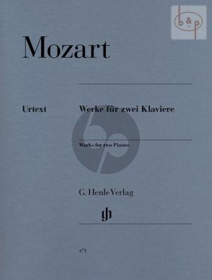 Werke 2 Klaviere (Partitur)