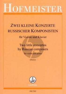 2 kleine Konzerte russischer Komponisten Violine und Klavier (Komarowski G-dur / Baklanowa d-moll) (Horst Dietze)