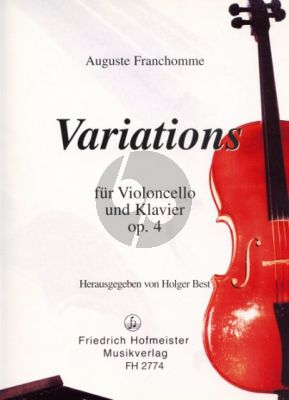 Franchomme Variations G-dur Opus 4 Violoncello und Klavier (Holger Best)