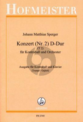 Sperger Konzert Nr.2 D-dur Kontrabass-Klavier (Klaus Trumpf)