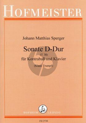 Sperger Sonate D-dur T.38 Kontrabass und Klavier (Klaus Trumpf)