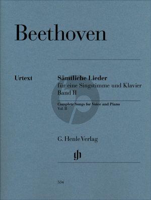 Beethoven Sämtliche Lieder vol.2 (Lühning) (Urtext der Neuen Beethoven-gesamtausgabe)