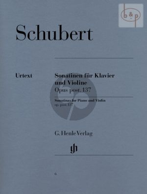 Schubert 3 Sonatinen Op.137 Violin and Piano (edited by Gunther Henle and Karl Rohrig)