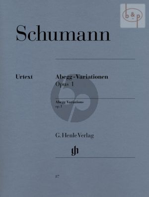 Abegg-Variationen Op. 1 Klavier