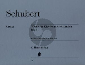 Schubert Werke Vol.1 Klavier 4 Hd. (ed. Willi Kahl) (Henle)