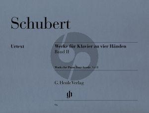 Schubert Werke Vol.2 Klavier 4 Hd. (ed. Willi Kahl) (Henle)
