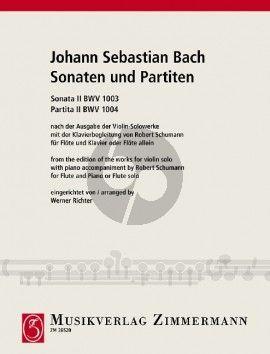 Bach Sonaten-Partiten No.2 BWV 1003 - 1004 Flöte (nach der Ausgabe der Violin-Solowerke mit der Klavierbegl. von Robert Schumann) (Werner Richter)