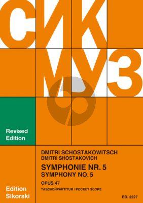 Shostakovich Symphony No.5 Op.47 Study Score (Sikorski)
