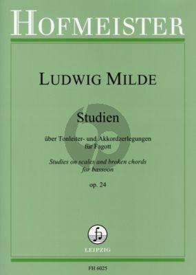Milde Studien uber Tonleiter- und Akkordzerlegungen Op.24 Fagott