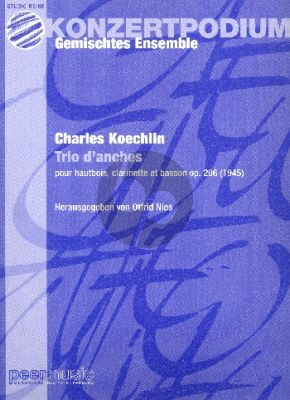 Koechlin Trio d'Anches Op.206 Oboe-Clar.-Bassoon (Score/Parts)