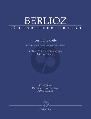 Berlioz Les Nuits d'Ete Op. 7 Holoman 81B Medium (2. Version) (edited by I.Kemp)