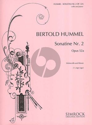Hummel Sonatina No.2 Op.52a Violoncello and Piano (1973) (1. enge Lage/ 1. closed Position)