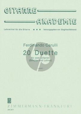 Carulli 20 Duette 2 Gitarren (Siegfried Behrend)
