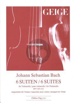 Bach Cello Suiten (arr. fur Violine von J. Ebner)