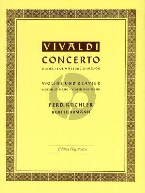 Vivaldi Concerto G-major Op.3 No.3 RV 310 Violin-Piano (edited by Ferdinand Kuchler and Kurt Herrmann)