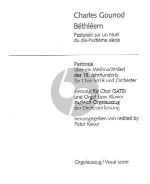 Gounod Berthleem SATB-Klavier (Pastorale uber ein Weihnachtslied) (herausgegeben von Peter Kaiser)