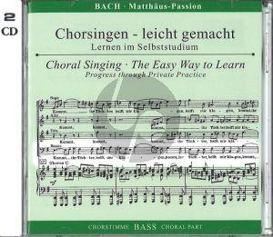 Matthaus Passion BWV 244 Bass Chorstimme