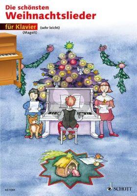 Die Schönsten Weihnachtslieder Klavier (Buch) (Marianne Magolt) (sehr leicht)