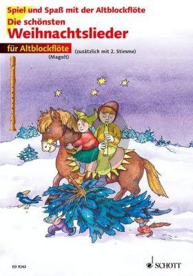 Die Schönsten Weihnachtslieder Altbfl. mit 2e Stimme) (Buch) (Marianne Magolt)