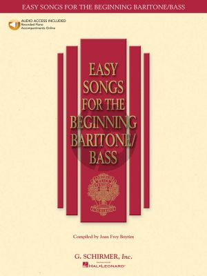 Album Easy Songs for the Beginning Baritone-Bass Singer (Bk-Audio Access Code) (edited by Joan Frey Boytim)