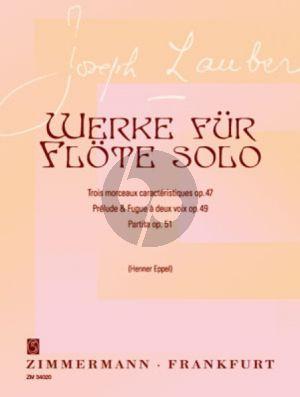 Lauber Werke für Flöte allein (ed. Henner Eppel)