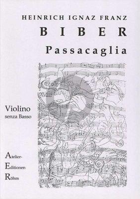 Biber Passacaglia g-minor Violin solo (with facsimile)