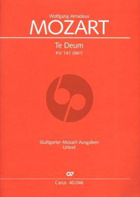 Mozart Te Deum Laudamus KV 141 SATB mit Instrumenten Partitur (Paul Horn)