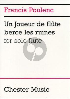 Poulenc Un Joueur de flute berce les ruines Flute solo