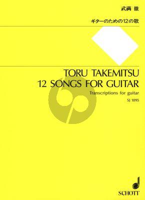 Takemitsu 12 Songs for Guitar (transcriptions)