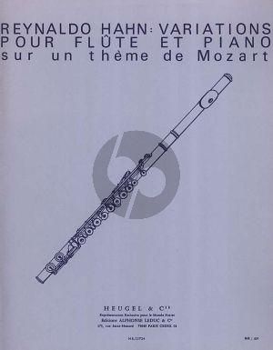 Hahn Variations sur un theme de Mozart Flute et Piano