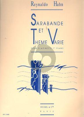 Hahn Sarabande et Theme Varie Clarinette et Piano
