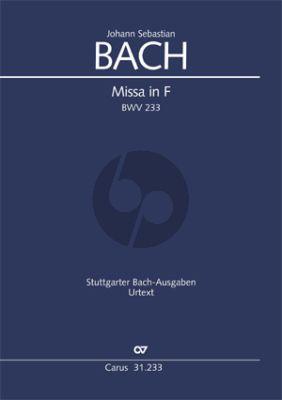 Bach Messe F dur BWV 233 SAB soli-SATB-Orch. Score
