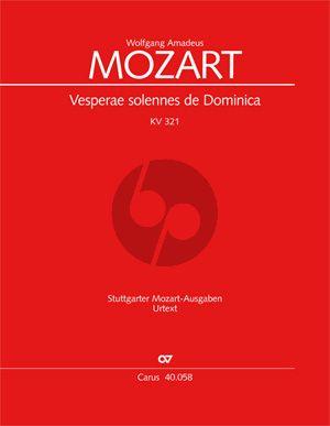 Mozart Vesperae Solennes de Domenica KV 321 Soli-Chor-Orchester Partitur (Bernhard Janz)