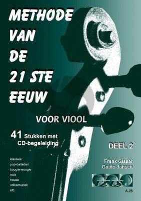 Glaser-Jansen Methode van de 21ste Eeuw Vol.2 Viool (Bk-Cd)