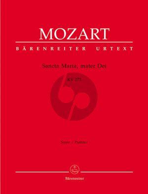Mozart Sancta maria Mater Dei KV 273 SATB-2 Vi.-Va.- Bc Partitur (ed. Helmut Federhofer)