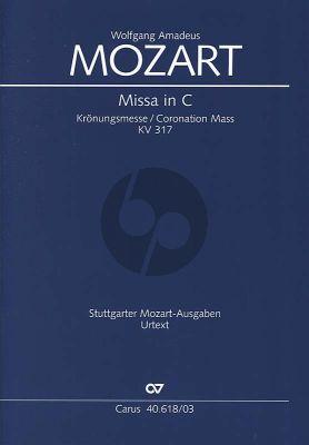 Mozart Kronungsmesse KV 317 SATB soli-SATB-Orchester Klavierauszug (Ulrich Leisinger)