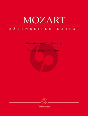 Mozart Variationen Klavier (Kurt Fischer) (Barenreiter-Urtext)