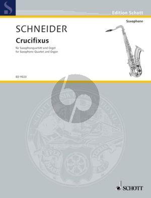 Crucifixus 4 Saxophones (SATB-Organ)