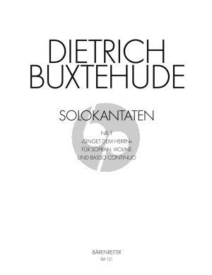 Buxtehude Singet dem Herren BuxWV 98 Soprano-Violin and Bc (Score/Parts) (Karl Matthaei)