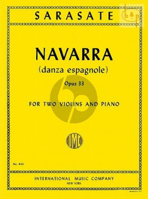 Navarra Op. 33 2 Violins and Piano