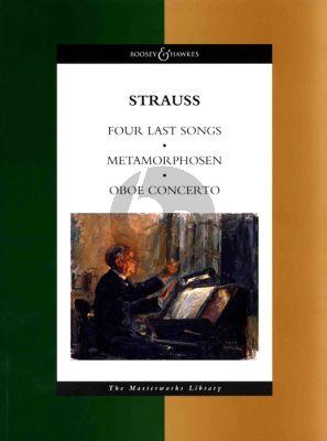 Strauss 4 Last Songs-Metamorphosen-Oboe Concerto (full score) (Boosey Masterworks libr.)