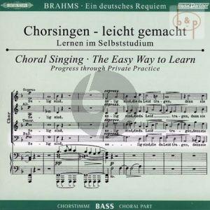 Ein Deutsches Requiem Op.45 Bass Chorstimme