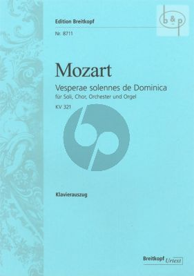 Mozart Vesperae solennes de Domenica KV 321 Soli-Chor-Orchester-Orgel Klavierauszug (Siegfried Petrenz)