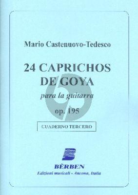 Castelnuovo-Tedesco 24 Caprichos de Goya Op.195 Vol.3 (No.13-18) Guitar (Angelo Gilardino)