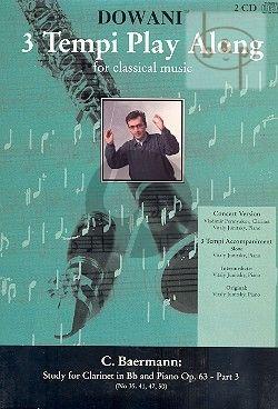 Studies Op.63 Vol.3 (No.35 - 41 - 47 - 50) (Solo Part[Bb]-CD)