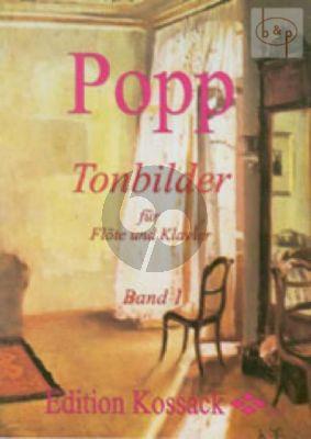 Popp Tonbilder Vol.1 (In leichter Spielart) Flöte-Klavier (Widdermann) (Grade 3)